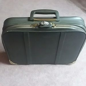 BANTAM JAPAN dark olive green mini suitcase 1960s